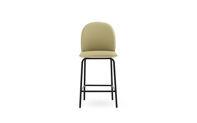 NORMANN COPENHAGEN Ace Bar Chair Full Upholstery Black Steel