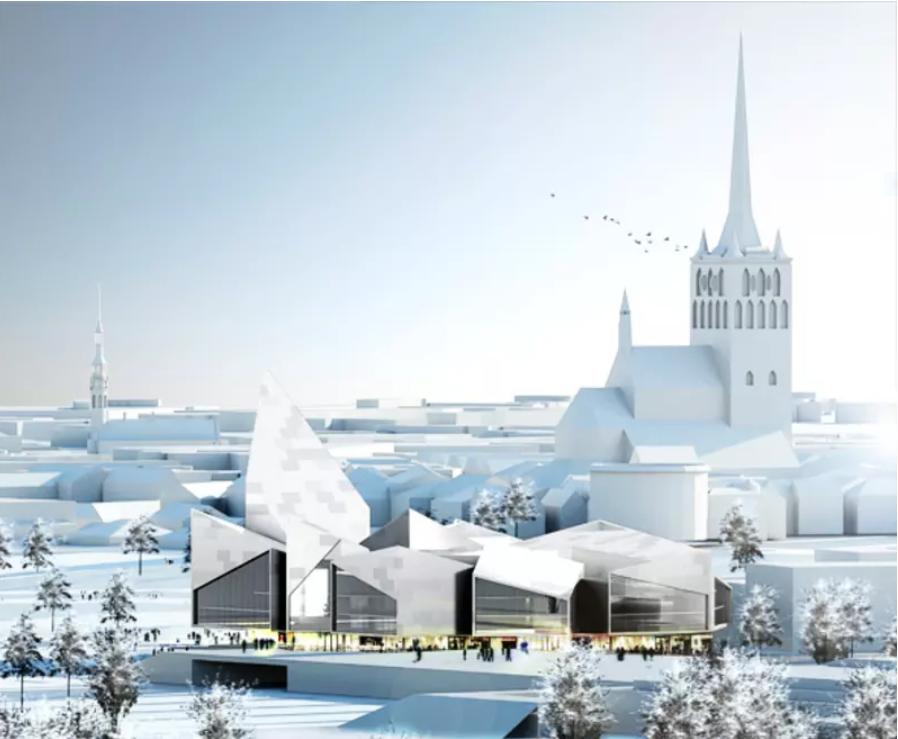 Tallinna Uus Raekoda - linnavalitsushoone, 2009.a, BIG kui ideekavandi võitja,