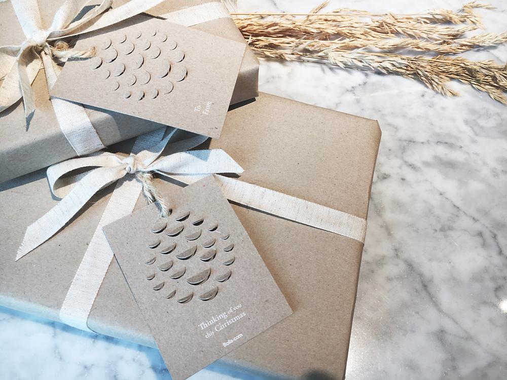 BOLIA pakib sel aastal oma kingitused loodussõbralikku taaskasutatud paberisse, imeilus, kas pole?!