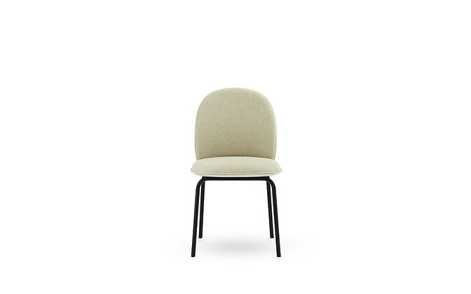 NORMANN COPENHAGEN Ace Chair Full Upholstery Black Steel, Main Line Flax