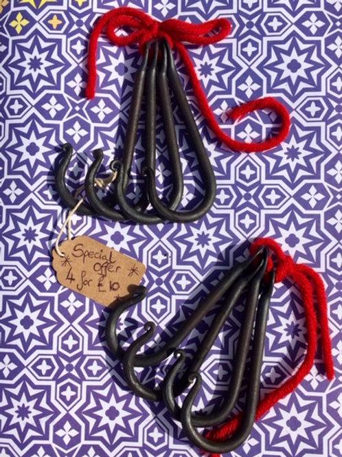 Blacksmith made, Hand forged hooks
