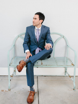groom sitting