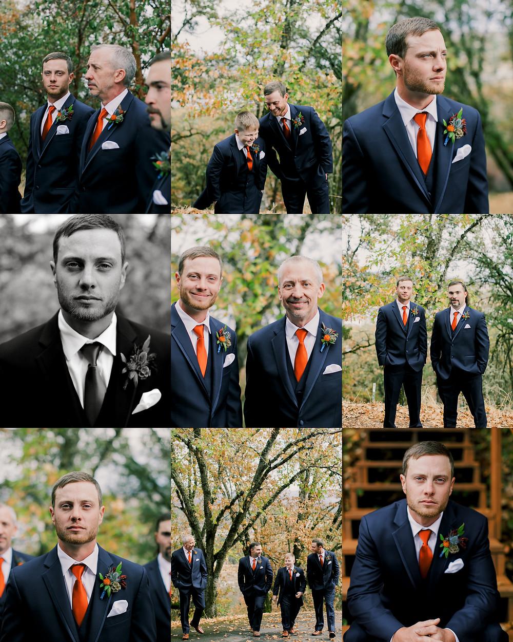 Groom in Medford oregon wedding