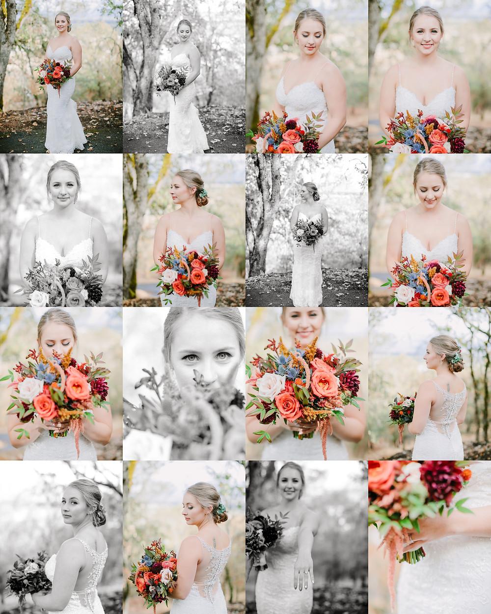 bride in southern oregon wedding