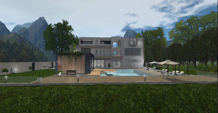 rear view - maison de Felicia