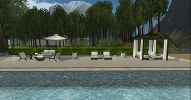 pool and external area