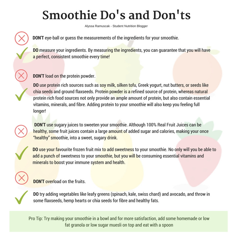 Smoothie Do's and Don'ts
