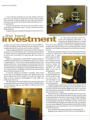 Medpoint Healthcare article in Business London
