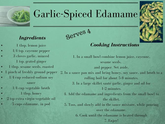 Garlic Spiced Edamame