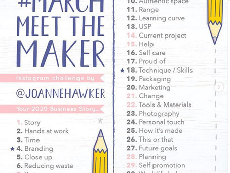 #MarchMeetTheMaker Challenge: Accepted!