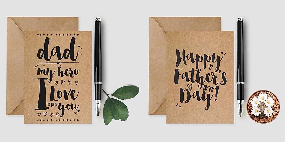 Father's Day Cards personalised Lubelu London