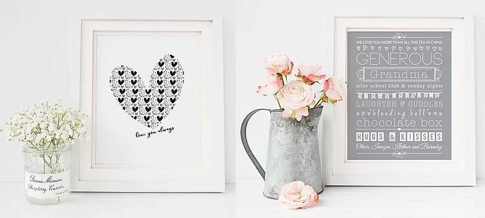 Mother's Day prints Lubelu personalised grandma design