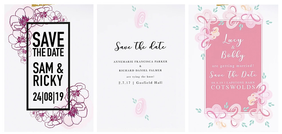 save the date cards personalised wedding stationery