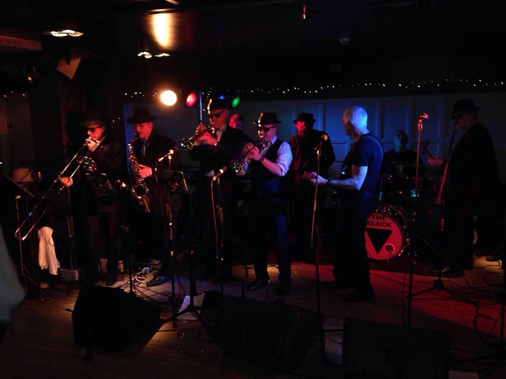 The Klack Brass Section.  That's me in shirt sleeves.