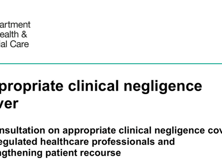 Appropriate Clinical Negligence Cover.  Australia anyone?