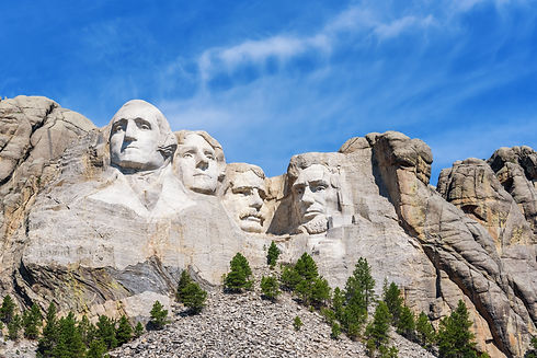 Presidential sculpture at Mount Rushmore