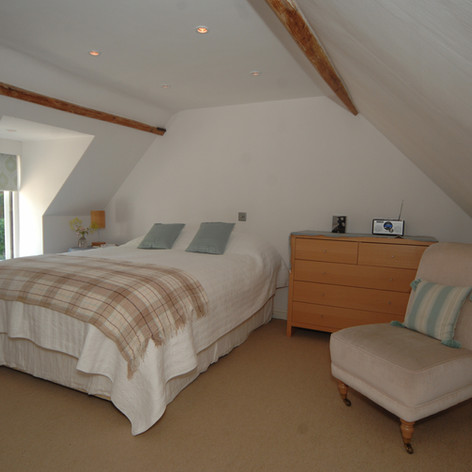 Upstairs bedroom in Retreat Cottage.