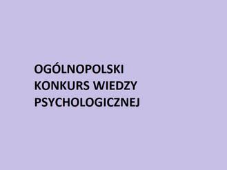 Ogólnopolski Konkursu Wiedzy Psychologicznej