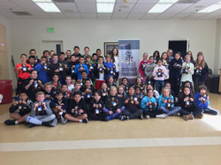 5th & 6th grade with their completed teddy bears