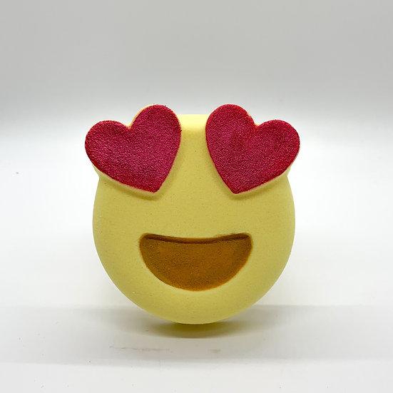 Heart-Eyes Emoji Bath Bomb