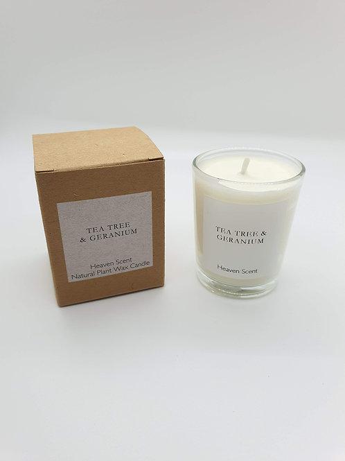 Tea Tree & Geranium (essential oils) 9cl Soy Wax Candle