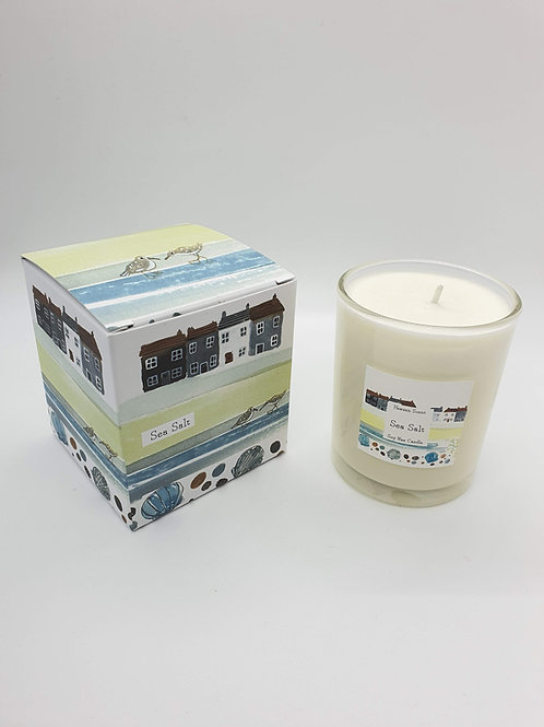 Sea Salt 20cl Soy wax Candle in an illustrated box