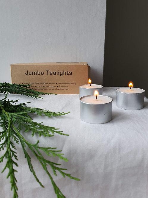 Jumbo Tealights made from plant wax