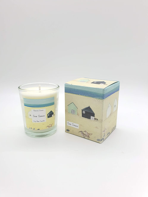 Sea Grass 9cl Soy Wax Candle in an illustrated box