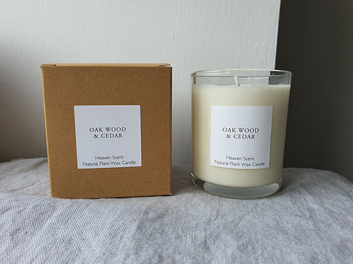 20cl Oakwood & Cedar Soy Wax Candle