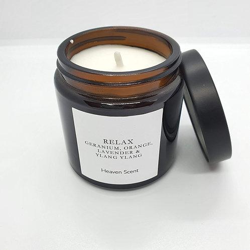 Relaxing Essential Oils in 120ml Brown Pharmacy Pot