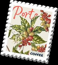 estampilla planta de cafe porte