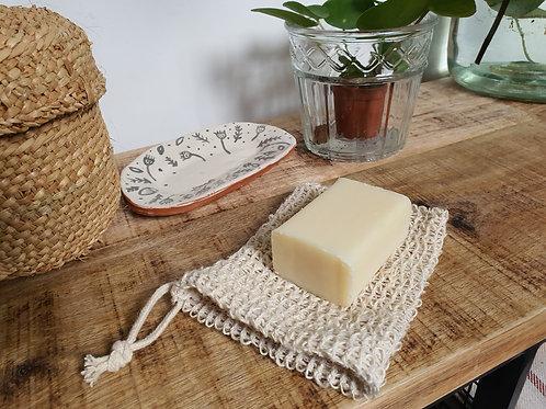 Natural Hemp Exfoliating Soap Pouch