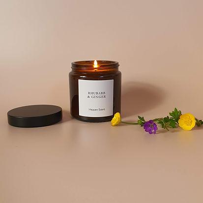 heaven scent Rhubarb Candle