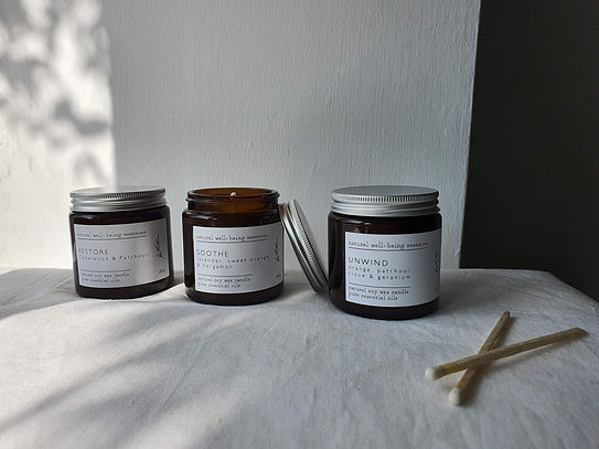 Essential Oil Candles Wellbeing Range