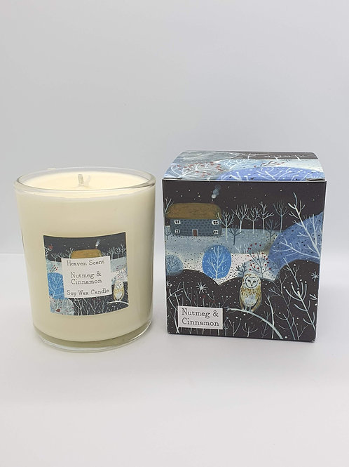 Nutmeg, Orange and Cinnamon 20cl Candle in  Pretty Illustrated Box