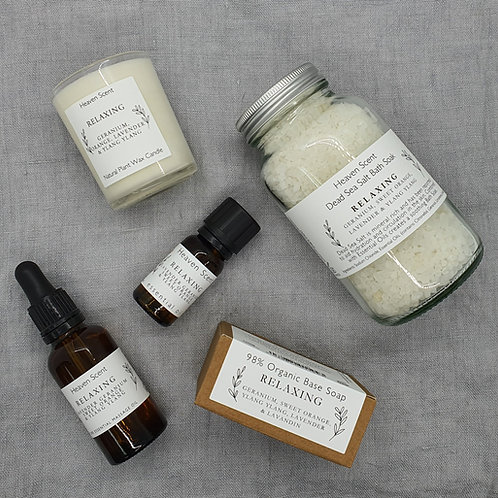 Wellness Gift Box - Relaxing (Lavender, Geranium, Sweet Orange,  Ylang, Ylang)