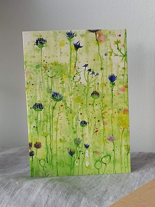 Water Colour Clover Greeting Card (blank inside)