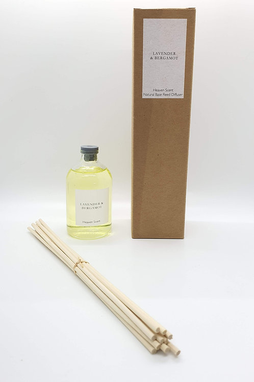 Lavender & Bergamot (essential oils) 100ml Natural Reed Diffuser