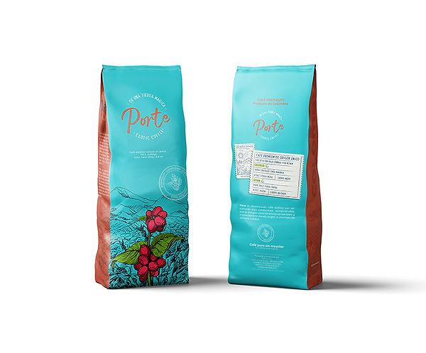 diseño envase de café porte