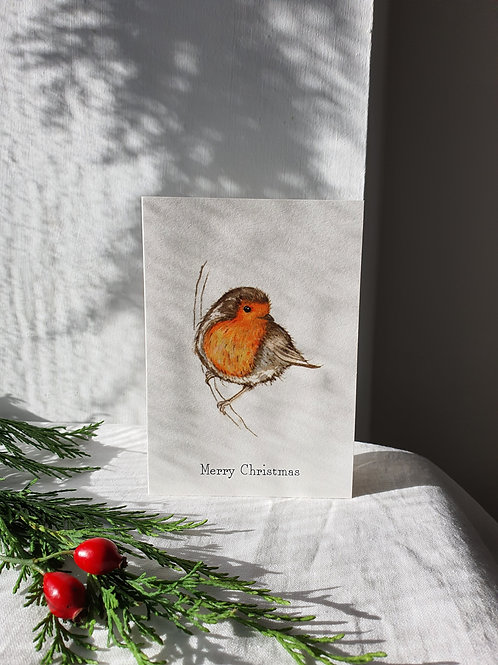 Christmas Robin Illustration by Sarah Pettitt
