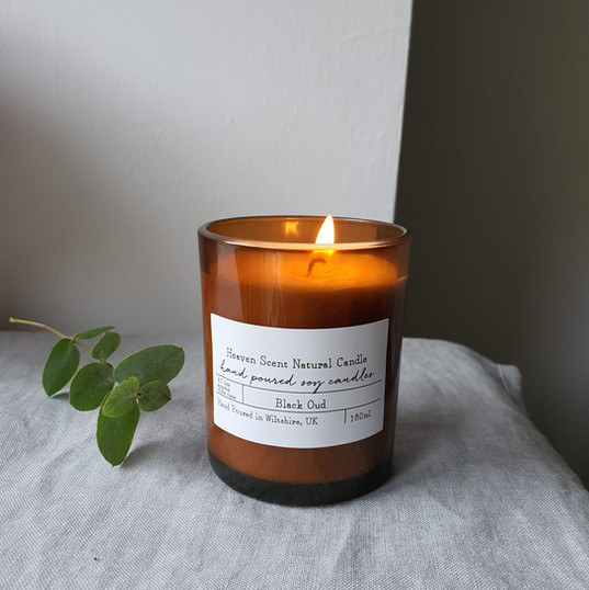 Amber Glass Candle Range