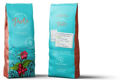 diseño de los envases de café porte