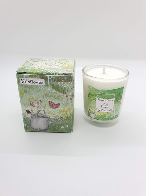 Wildflower 9cl Soy Wax Candle with a pretty illustrated Box
