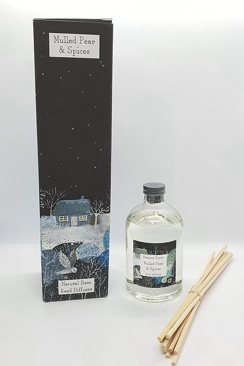Mulled Pear 100ml Reed Diffuser in Pretty Illustrated Box