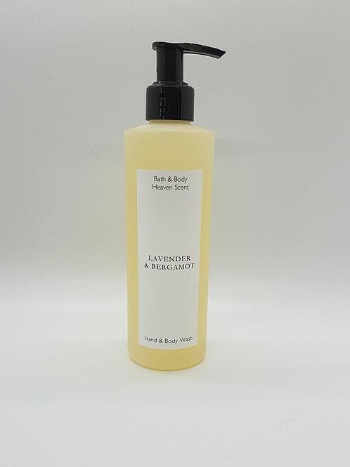 Lavender & Bergamot (essential oil) Natural Soap Wash 250ml