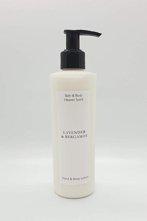 Lavender & Bergamot (essential oil) Natural Hand & Body Lotion