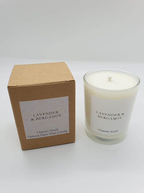 Lavender & Bergamot (essential oils) 9 cl Soy Wax Candle