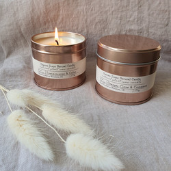 Rose Gold Candle Tin Heaven Scent