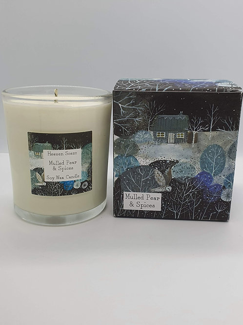 Mulled Pear 20 Cl Candle in Pretty Illustrated Box