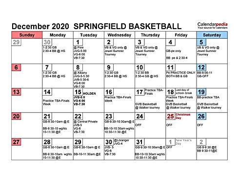 2020-21 Practice-games  SPRINGFIELD BASK